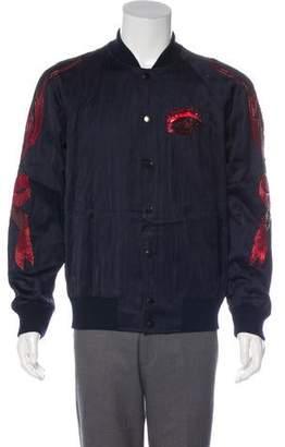 Dries Van Noten Embellished Quilted Bomber Jacket