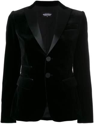 DSQUARED2 velvet peaked lapel blazer