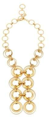 Robert Lee Morris Soho Primal Connection Goldplated Multi-Link Frontal Necklace