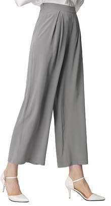 54ba5a956a LilySilk Silk Wide Leg Pants 18MM 100% Pure Silk Full Length Women's  Trousers S