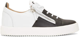 Giuseppe Zanotti White and Black Double May London Sneakers