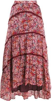 Cecilie Copenhagen Gaby floral print midi skirt