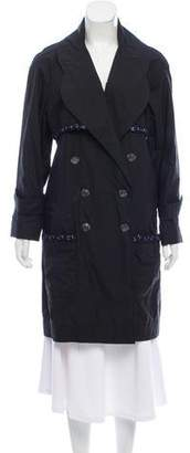 Chanel Tweed-Trimmed Trench Coat