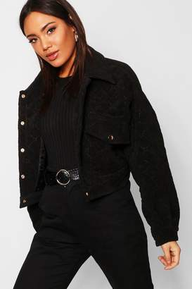 boohoo Quilted Trucker Jacket