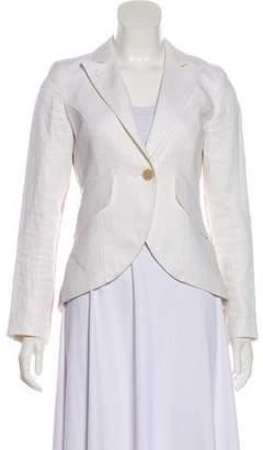 Smythe Linen Button-Up Blazer