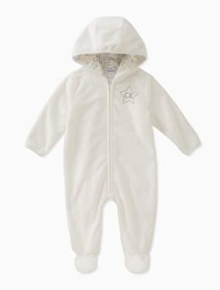 Calvin Klein baby boys sherpa logo onesie