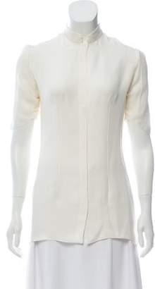 Cushnie et Ochs Short Sleeve Silk Top