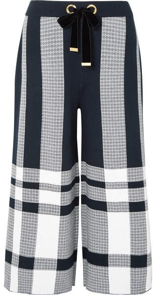 Mother of Pearl Kory Cotton Culottes - Navy