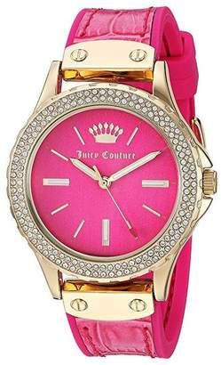 Juicy Couture Ladies' Crystal Bezel Hot Pink Watch