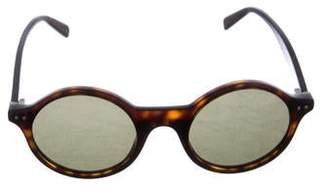 Celine Round Tortoiseshell Sunglasses