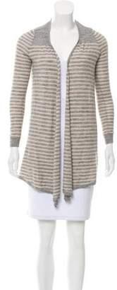 Rebecca Taylor Stripe Knit Open Cardigan Sweater