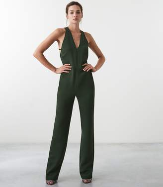 Reiss Naddia Strappy Plunge Jumpsuit