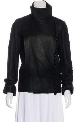 Maison Margiela Asymmetrical Suede Jacket