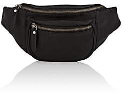 Barneys New York MEN'S LEATHER BELT BAG - BLACK