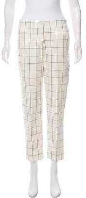 Adrienne Vittadini Patterned Mid-Rise Pants