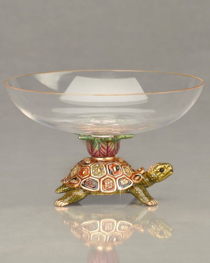 Jay Strongwater Yoshi Turtle Candy Dish