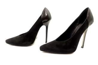 Elie Saab Black Suede Heels