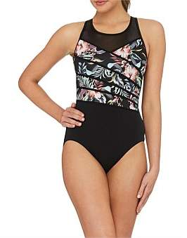 Jantzen Pool Proof Cross Front High Neck Mastectomy One Piece