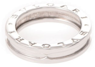 Bvlgari  Bulgari B-Zero1 18K White Gold Band Ring Size 6.25