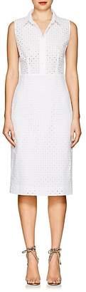 Barneys New York Women's Cotton Eyelet Shirtdress