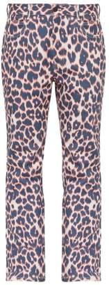 Calvin Klein Leopard Print Jeans - Mens - Brown Multi