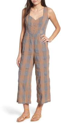 Blend of America THE EAST ORDER Frankie Check Linen Jumpsuit