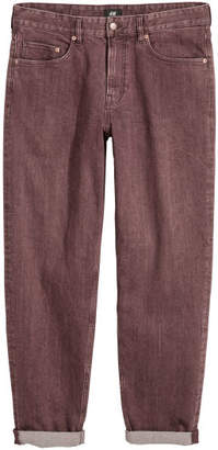 H&M Wide-cut Jeans - Red