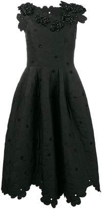 Simone Rocha Floral Cloque Dress
