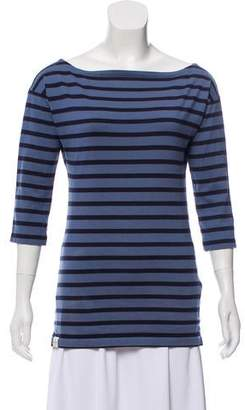 Ralph Lauren Rugby Bateau Neck Striped Top