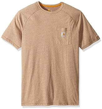 Carhartt Men's Big and Tall Force Delmont Short Sleeve T-Shirt Relaxed Fit
