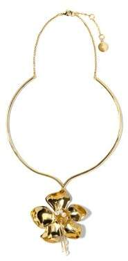Vince Camuto Goldtone Flower Statement Necklace