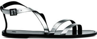 H&M Leather Sandals - Silver