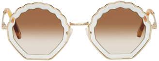 Chloé Gold Tally Sunglasses