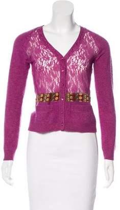 Philosophy di Alberta Ferretti Knit Button-Up Cardigan