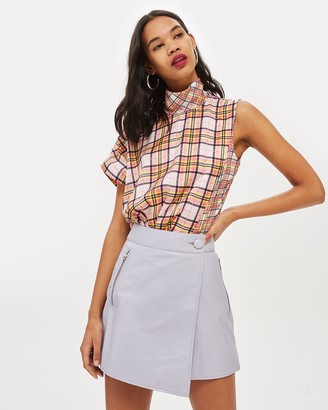 Topshop Asymmetric Wrap Mini Skirt