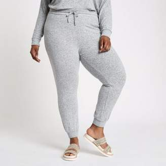 River Island Womens Plus grey marl slim fit jersey joggers