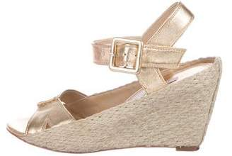 Diane von Furstenberg Leather Espadrille Wdges
