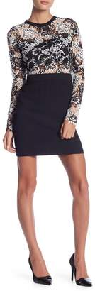 Romeo & Juliet Couture Long Sleeve Lace Overlay Dress