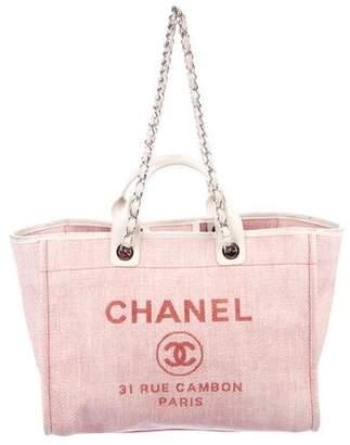 Chanel Large Raffia Deauville Tote
