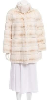 Fur White Rex Fur Short Coat