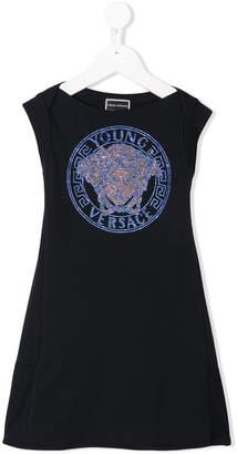 Versace embellished medusa dress