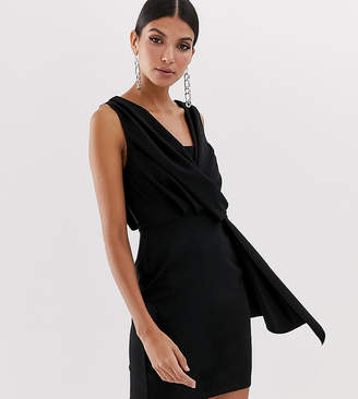Asos Tall DESIGN Tall mini drape front dress