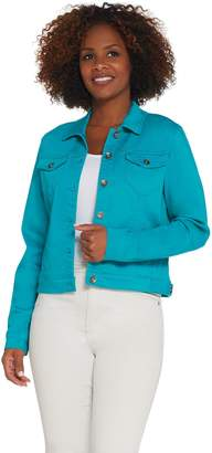 Susan Graver Stretch Twill Jean Jacket