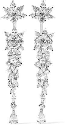 YEPREM - 18-karat White Gold Diamond Earrings - one size