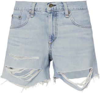 Rag & Bone Shredded Boyfriend Shorts $195 thestylecure.com