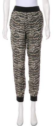Rag & Bone Silk Mid-Rise Skinny Pants