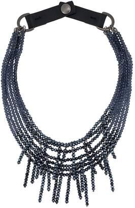 Peserico beaded fringe necklace
