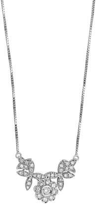 Damiani Estate 18k White Gold Diamond Flower Necklace