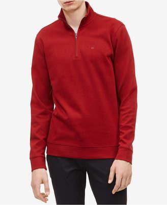 Calvin Klein Men Classic Cotton Quarter-Zip Pullover Sweater