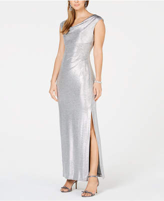 Connected Petite Metallic Gown